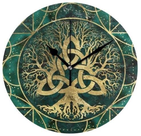 reloj de pares con simbologia celta